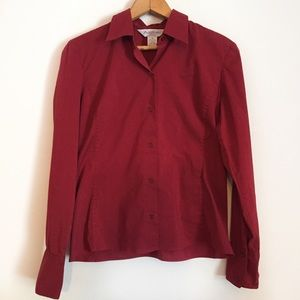 ❄️ Brooks Brothers Stretch Button Up Blouse
